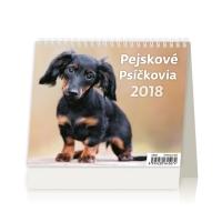Psíčkovia - české/slovenské týždenné riadkové kalendárium, 56 + 2 strán