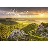 Malebné Slovensko - slovenské mesačné menné kalendárium, 14 listov, 45 x 31,5 cm