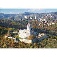 Ponad Hrady - slovenské mesačné menné kalendárium, 14 listov, 45 x 31,5 cm