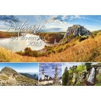 Putovanie po Slovensku - slovenské mesačné menné kalendárium, 14 listov