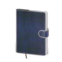 Flip - týždenný diár 143x205 - modrobielý