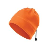 Fleecová čiapka Adler HV Practic, fluorescenčná oranžová