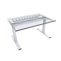 Pracovný elektrický stôl Nowy Styl Easy Space E-model, 140 x 80 cm svetlý piesok