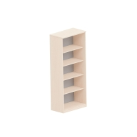 5-policová otvorená knižnica Easy Space Nowy Styl, 80 x 44,5 x 189,5 cm, javor