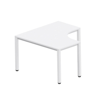 Pracovný stôl v tvare L - ľavý Easy Space,  120 x 120 x 60 x 60cm, svetlý piesok