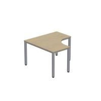 Pracovný stôl v tvare L - pravý Easy Space,  120 x 120 x 60 x 60cm, javor
