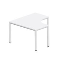 Pracovný stôl v tvare L - pravý Easy Space,  120x120x60x60cm, svetlý piesok