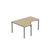 Pracovný stôl v tvare L - ľavý Easy Space, 120x180x60x80cm, javor