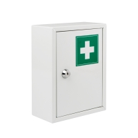 Lekárnička bez obsahu, kovová, veľkosť S, biela