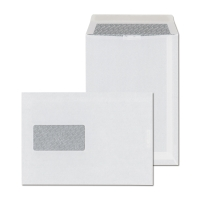 Tašky samolepiace biele C5 (162 x 229 mm), okno vľavo, 500 kusov/balenie