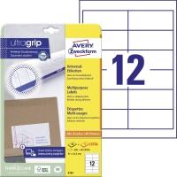 Univerzálne etikety Avery, 4781, 97 x 42,3 mm, 12 etikiet/hárok