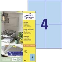 Modré etikety Avery, 33457, 105x148mm, 400 etikiet/balenie