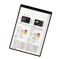 Magnetická prezentačná Tarifold kapsa A4 čierna, 5 kusov v balení