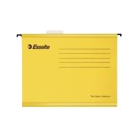 Závesné obaly Esselte Classic, pre A4 dokumenty, farba žltá, balenie 25 ks