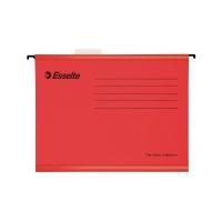 Závesné obaly Esselte Classic, pre A4 dokumenty, farba červená, balenie 25 ks