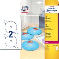 Etikety na CD Avery, L7760-25, 25 hárkov, 50 etikiet/balenie