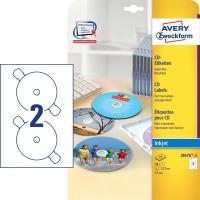Etikety na CD Avery, J8676-25, 25 hárkov, 50 etikiet/balenie