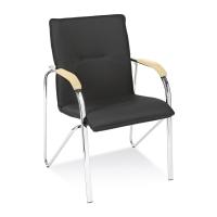 Konferenčná stolička Samba chrome, čierna