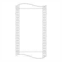 Papier do ihličkových tlačiarní, 60 g/m², 24 x 30,5 cm, 1+0 vrstiev