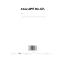 Stavebný denník (aj samoprepis) A4, Ševt 052350, blok, 126 listov
