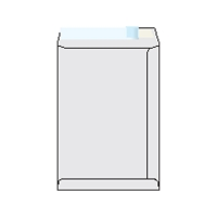 Tašky samolepiace biele recyklované C4 (229 x 324 mm), 250 ks/balenie