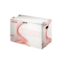Archivačný kontajner na pákové zakladače Esselte biely, balenie 10 kusov