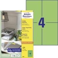 Zelené etikety Avery, 3458, 105 x 148 mm, 400 etikiet/balenie