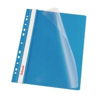 Závesný prezentačný rýchloviazač PP Esselte modrý, balenie 10 kusov