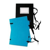 Spisové dosky so šnúrkami Hit Office A4 modré, balenie 25 kusov