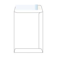Tašky samolepiace s krycou páskou biele B5 (176 x 250 mm), 50 ks/balenie