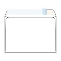 Obálky samolepiace s krycou páskou biele C6 (114 x 162 mm), 50 kusov/balenie