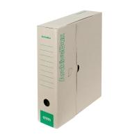 Archivačné prenosné krabice Emba 33 x 26 x 7,5 cm prírodné, balenie 25 kusov