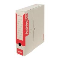 Archivačné prenosné krabice Emba 33 x 26 x 7,5 cm červené, balenie 25 kusov