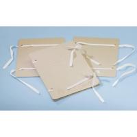 Spisové dosky so šnúrkami + štítok Emba A4 pieskové, balenie 25 kusov