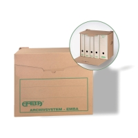 Archivačná krabica Emba prírodná 40 x 33,5 x 26,5 cm