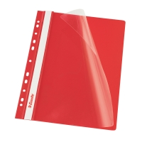 Závesný prezentačný rýchloviazač PP Esselte červený, balenie 10 kusov