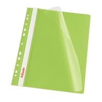 Závesný prezentačný rýchloviazač PP Esselte zelený, balenie 10 kusov