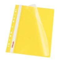 Závesný prezentačný rýchloviazač PP Esselte žltý, balenie 10 kusov