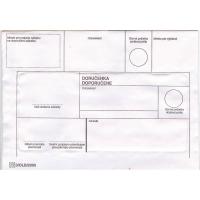 Obálky s doručenkou  doporučene  B6 formát, 50 ks/balenie