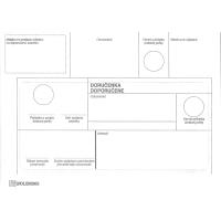 Obálky s doručenkou  doporučene  B6 formát, 1000 ks/balenie