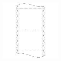 Papier do ihličkových tlačiarní, 54 g/m², 24 x 15,2 cm, 1+1 vrstva