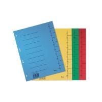 Rozdeľovače číselné kartónové Bene A4 modré, balenie 50 kusov