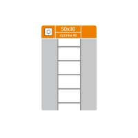 Termotransférové etikety S & K Label, 50 x 30 mm, 3000 etikiet/kotúč