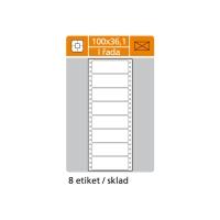 Tabelačné etikety S & K Label, 1-radové, 100 x 36,1 mm, 4000 etikiet/bal