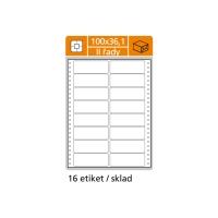 Tabelačné etikety S & K Label, 2-radové 100 x 36,1 mm, 8000 etikiet/bal