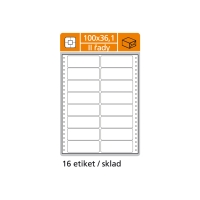 Tabelačné etikety S & K Label, 2-radové, 100 x 36,1 mm, 400 etikiet/bal