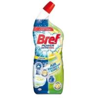 Gélový čistič na toalety Bref Power citrón, 750 ml