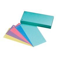 Rozdeľovače 1/3 (105 x 240 mm) Hit Office mix 5 farieb, balenie 50 kusov