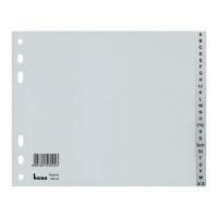 Rozdeľovače A - Z PP Bene 18 x 23 cm šedé