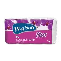 Toaletný papier Big Soft Plus biely, 2-vrstvový, 8 kusov